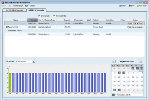 Hoe te Transacties Plan in Quicken 2012